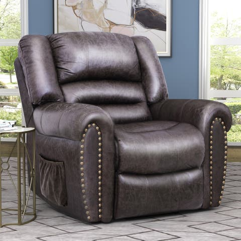 Smoky Brown Heavy-duty Power-lift Recliner Chair
