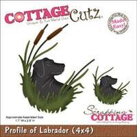 """Profile Of Labrador 1.7""""X2.8"""" - Cottagecutz Die"""