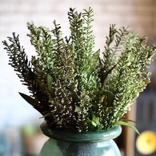 "RusticReach Artificial Green Eco PE Spike Grass Stem 27"" Tall (Set of 5)"