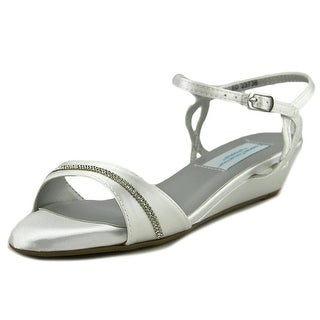 Dyeables MALLORY Open Toe Satin Wedge Sandal
