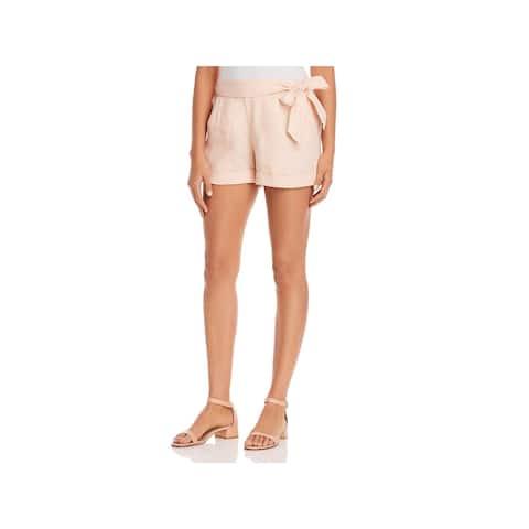 Three Dots Womens Casual Shorts Woven Linen