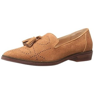 Joe's Jeans Womens Carson Smoking Loafers Suede Perforated - 7.5 medium (b,m)