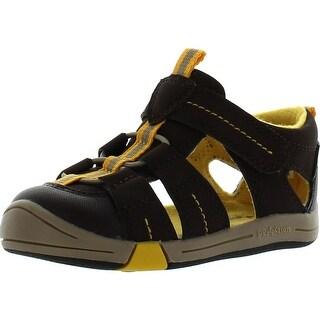 Jumping Jacks Kids Beach Baby Sport Sandals - Chocolate Brown - 4 m us toddler