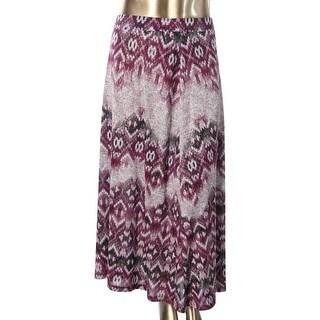 Kasper Womens Plus Metallic Printed Maxi Skirt - 2X