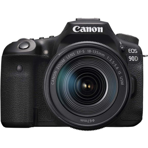 Canon 90D Digital SLR Camera with 18-135 is USM Lens. Opens flyout.