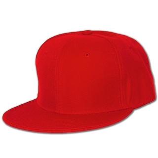 Blank Flat Bill Baseball Hat (More Colors Available), 7 Red