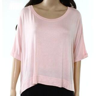 Michael Stars NEW Deep Pink Womens Size Medium M Scoop Neck Knit Top