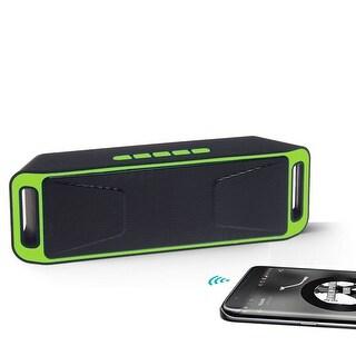 Indigi® [Green] Portable Bluetooth Wireless Speaker FM Subwoofer Super Bass HIFI Stereo
