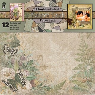 """Hot Off The Press Double-Sided Paper Pack 12""""X12"""" 12/Pkg-Nature's Touch"""
