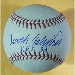 Frank Robinson Autographed OML Baseball wHOF 82