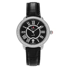 Michele Women's MWW21B000025 'Serein' 5/8 CT TDW Diamond Roman Numeral Strap Watch