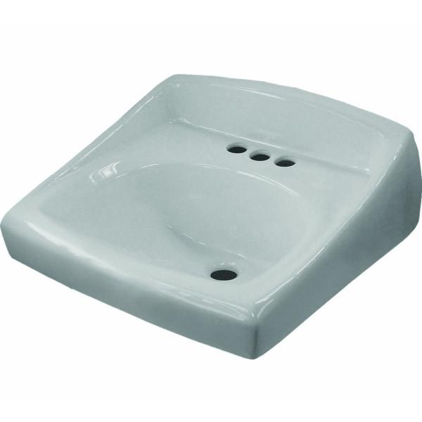 """Sloan SS-3003 20-3/4"""" Single Basin Wall Mount Vitreous China Lavatory Sink - White"""