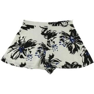 Aqua Womens Chiffon Floral Print Casual Shorts