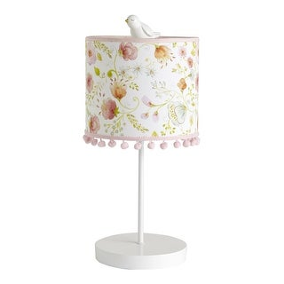 Lambs & Ivy Pink Sweet Spring Lamp with Shade & Bulb