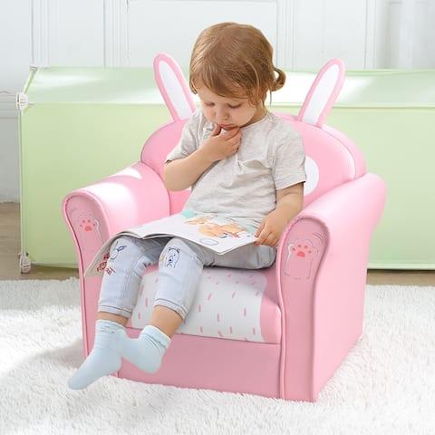 Children's Single Sofa Cute Series American Standard Pu Dark Pink