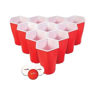 Hexcup Beer Pong Set - Red & White