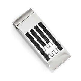 Chisel Stainless Steel Polished Carbon Fiber Money clip