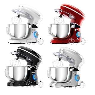 Costway 6.3Qt Tilt-Head Food Stand Mixer 6 Speed 660W w/Dough Hook,