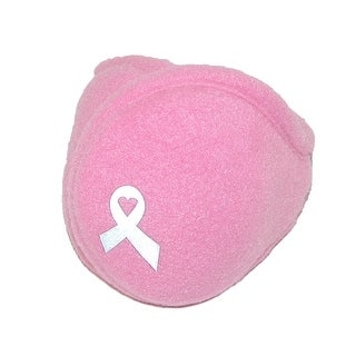 180s Women's Pink Ribbon Breast Cancer Wrap Around Earmuffs