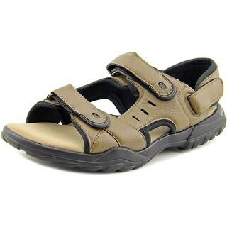 Bruno Homme Bay Men Open-Toe Leather Gray Sport Sandal