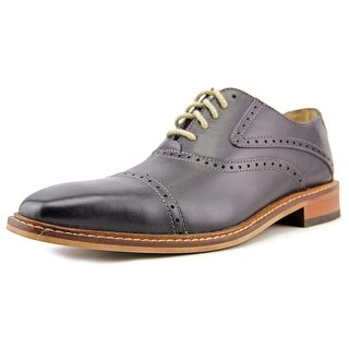 Giorgio Brutini Roone Men Cap Toe Leather Black Oxford