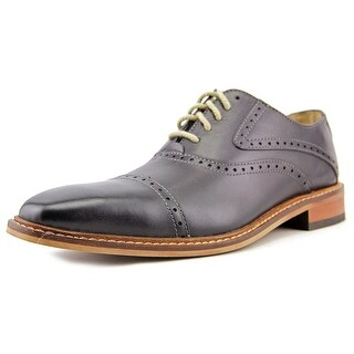 Giorgio Brutini Rote Men Cap Toe Leather Black Oxford