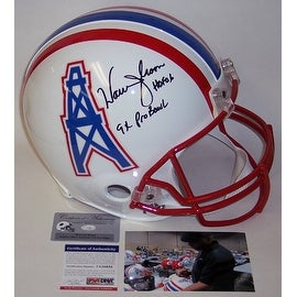 Warren Moon Autographed Hand Signed Houston Oilers Full Size Authentic Helmet - PSA/DNA