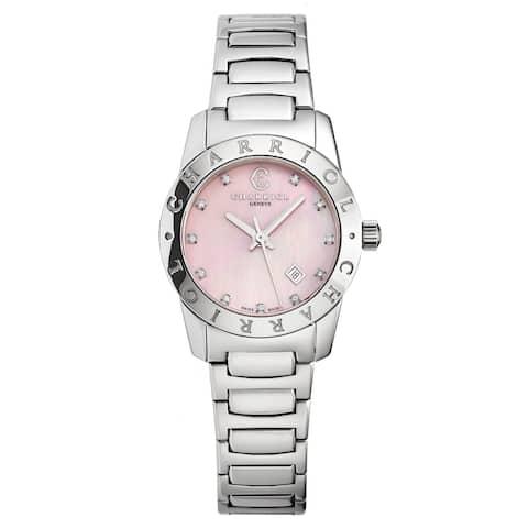Charriol Women's AC28S.910.003 'Alexandre C' Pink Mother of Pearl Diamond Dial Swiss Quartz Watch