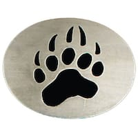Bear Paw Print Belt Buckle