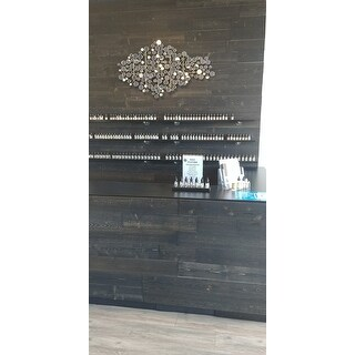 Timberchic Reclaimed Wooden Wall Planks - Peel and Stick Application (20 Sq. Ft.) (Black Ice) - Black