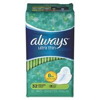 Tide 95251PK Super Long Ultra Thin Pads with Wings 32 per Pack