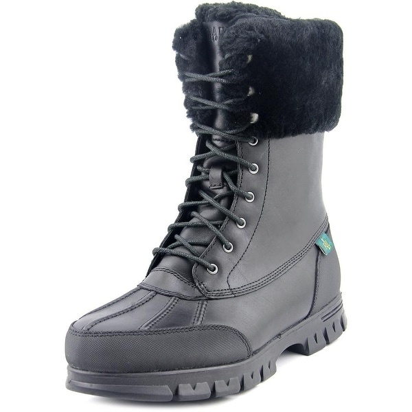 Lauren Ralph Lauren Quinta Round Toe Leather Winter Boot