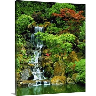 """Japanese Garden in Portland, Oregon"" Canvas Wall Art"