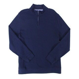 Club Room NEW Navy Blue Mens Size 3XL Mock-Neck Solid 1/2 Zip Sweater