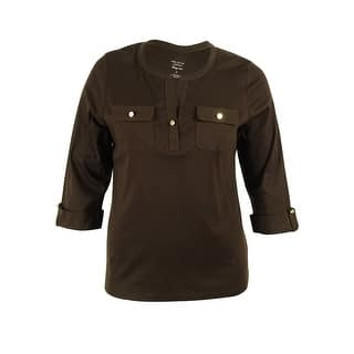 Charter Club Women's Pima-Cotton 3/4 Sleeve Button Top|https://ak1.ostkcdn.com/images/products/is/images/direct/7dced8fba655e064003fad91802da957752ad3f3/Charter-Club-Women%27s-Pima-Cotton-3-4-Sleeve-Button-Top.jpg?impolicy=medium
