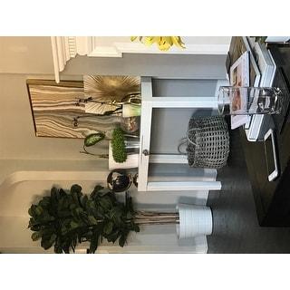 Lachlan Glossy White Sofa Table