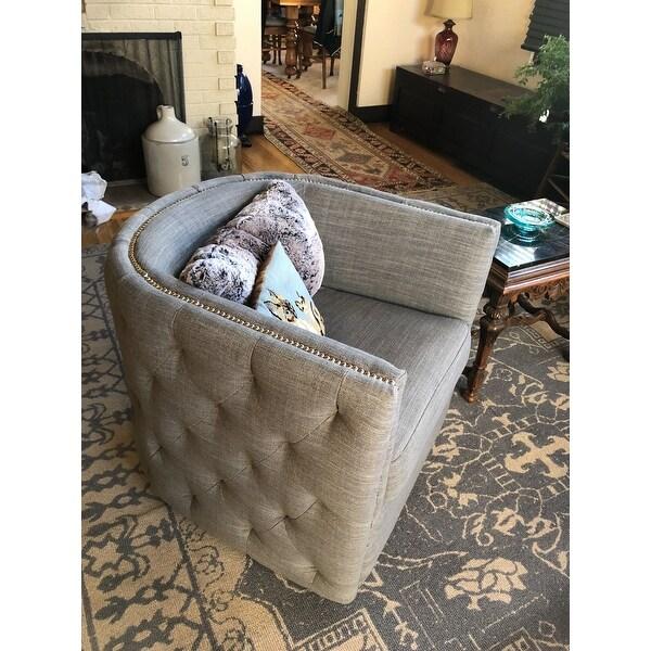 Madison Park Wilmette Slate Swivel Chair Customer Reviews