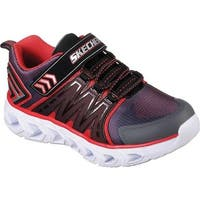 Skechers Boys' S Lights Hypno-Flash 2.0 Sneaker Charcoal/Red