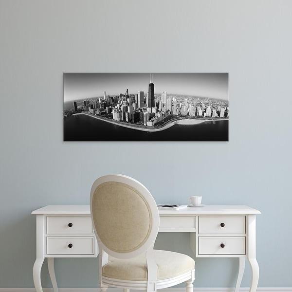 Easy Art Prints Panoramic Image 'View of buildings, Lake Michigan, Lake Shore Drive, Chicago, Illinois' Canvas Art