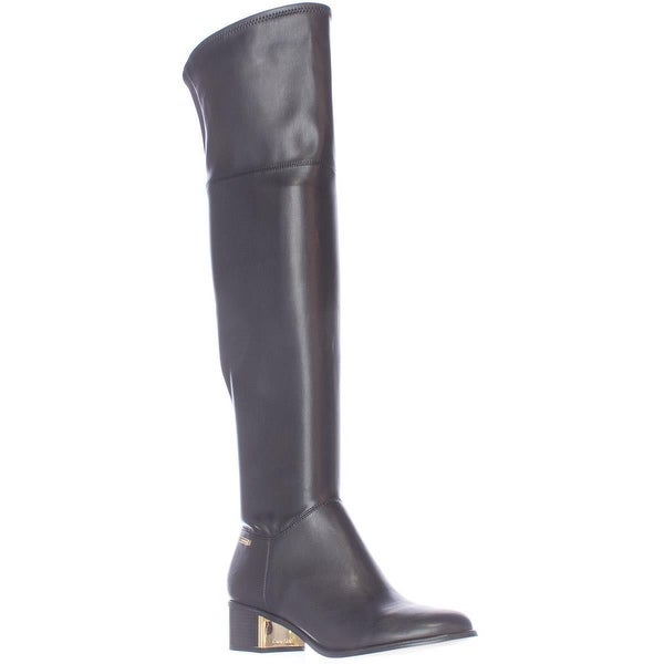 Calvin Klein Carli Pull On Over The Knee Boots, Black