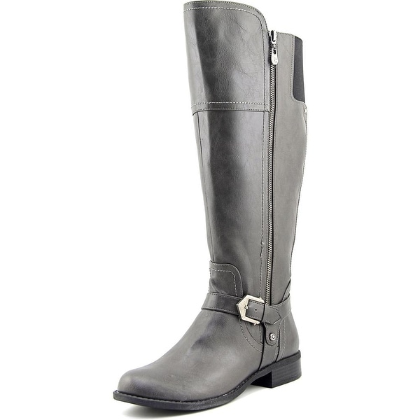G By Guess Hailee Wide Calf Women Round Toe Synthetic Gray Knee High Boot