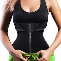 Waist Cincher Tummy Fat Burning Fitness Body Shaper Corset - black
