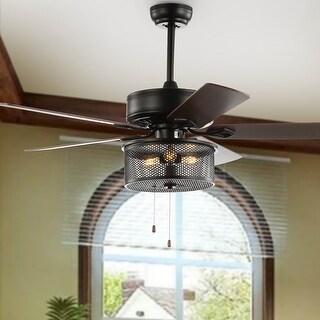 "Safavieh Lighting 52-Inch Fredrick Ceiling Light Fan - 52"" W x 52"" L x 24"" H"