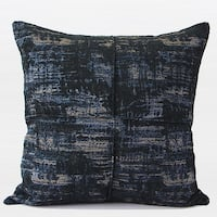 "G Home Collection Luxury Blue Mix Color Metallic Chenille Pillow 22""X22"""