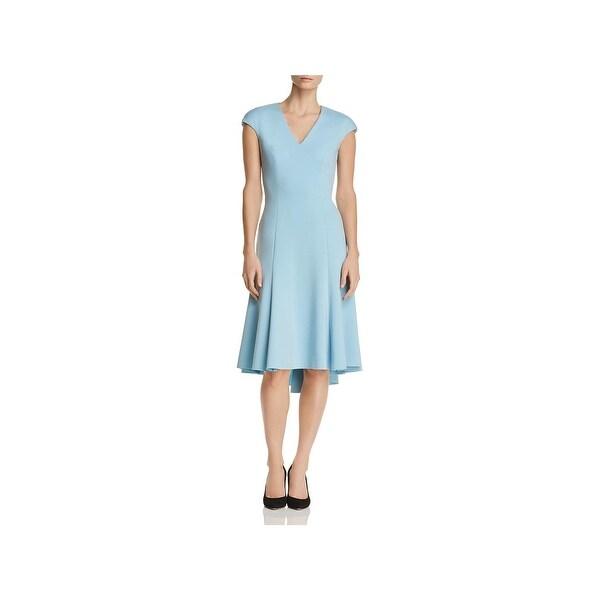 51843b352f25 Shop Elie Tahari Womens Moriah Cocktail Dress Hi-Low Sleeveless ...