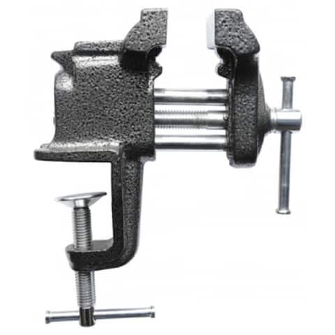 """Bessey BV-C030 Clamp On Bench Vise, 3"""" Wide Jaw, 3"""" Clamp Capacity, Light Duty"""