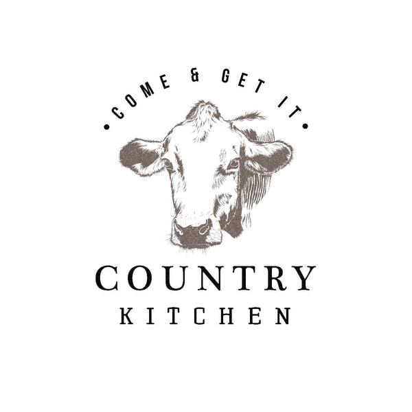 Shop Country Kitchen Cow On White Lantern Press Artwork Art