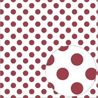 "Bazzill Printed Acetate Dots Sheets 12""X12""-Pomegranate"