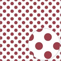 "Pomegranate - Bazzill Printed Acetate Dots Sheets 12""X12"""