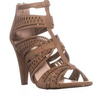 A35 Chloey Strappy Dress Sandals, Camel